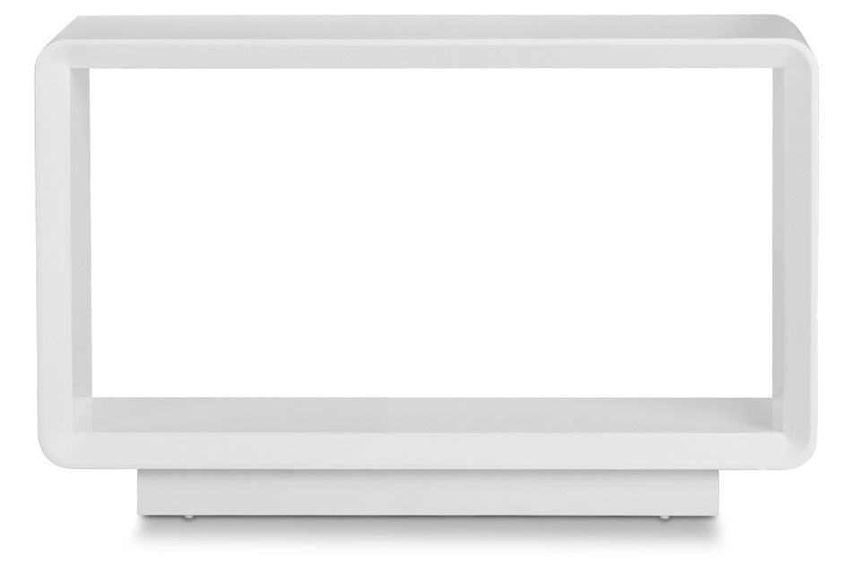 Zayden White Sofa Table,  (1)