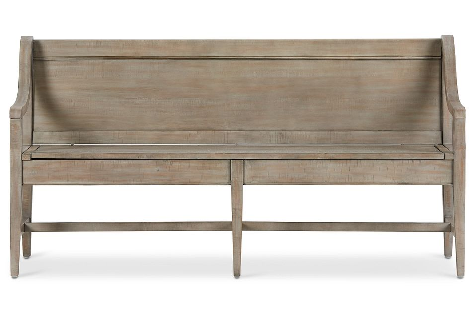 Heron Cove Light Tone Storage Dining Bench