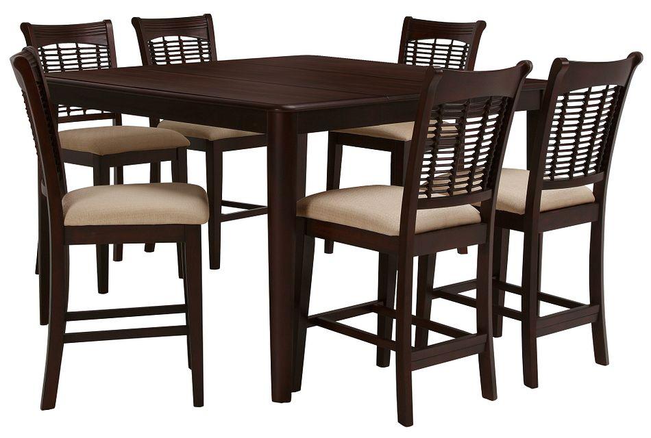 Bayberry DARK TONE  High Table & 4 Barstools