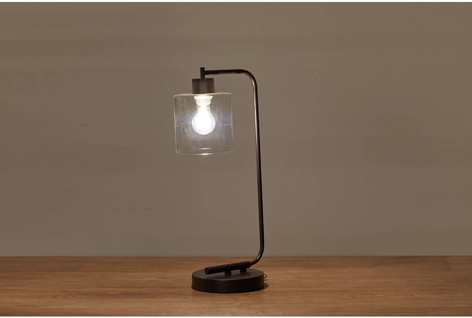 Maxwell Black Metal Table Lamp