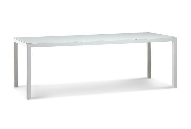"""Lisbon2 White 86"""" Rectangular Table"""