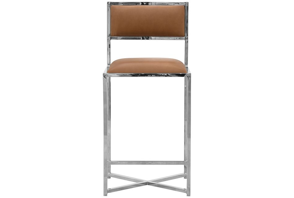 "Amalfi Brown Stnl Steel 24"" Barstool"