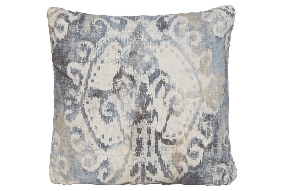 Soledad Gray Fabric Square Accent Pillow