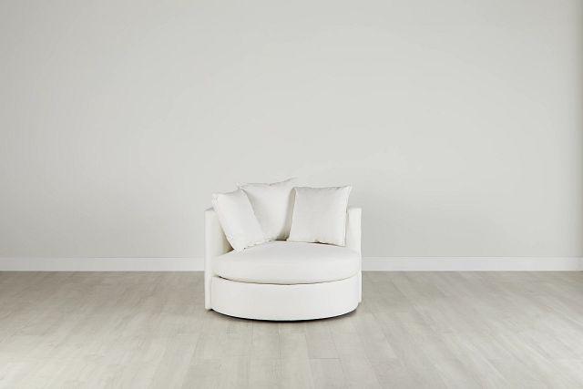 Merrick White Fabric Swivel Chair (0)