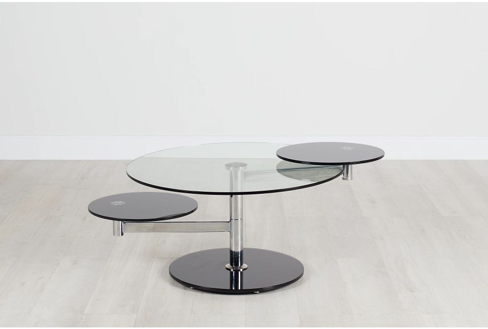 Dalston Glass Round Coffee Table