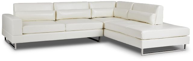 Alec White Micro Right Chaise Sectional (1)
