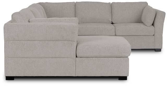 Amber Light Gray Fabric Large Left Chaise Sleeper Sectional (3)