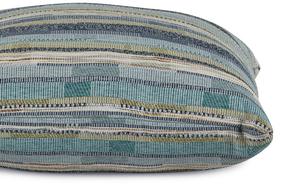 """Forbode Blue Fabric 18"""" Accent Pillow,  (2)"""