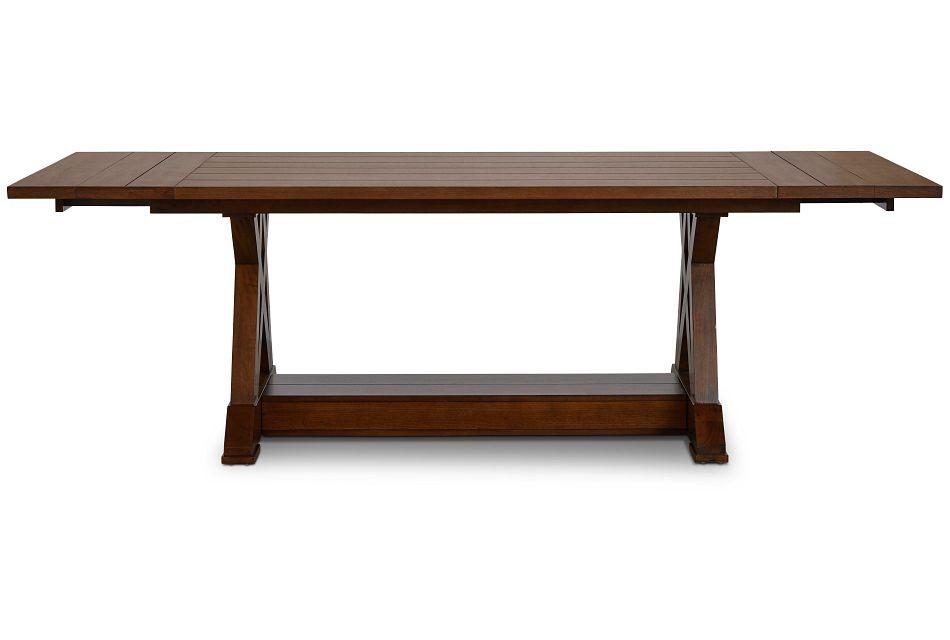 Bloomington Dark Tone Rect Trestle Table,  (1)