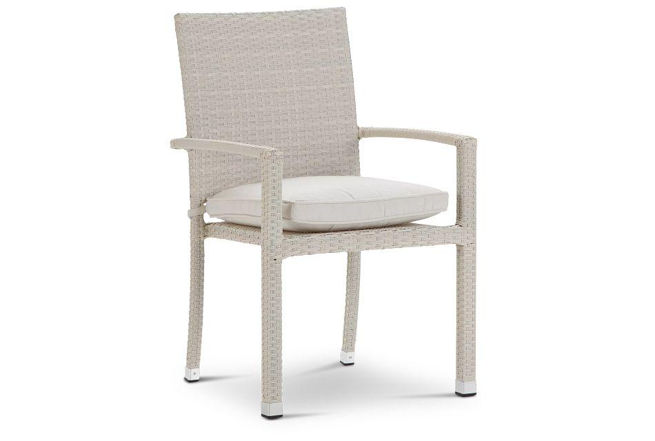 Bahia White Arm Chair