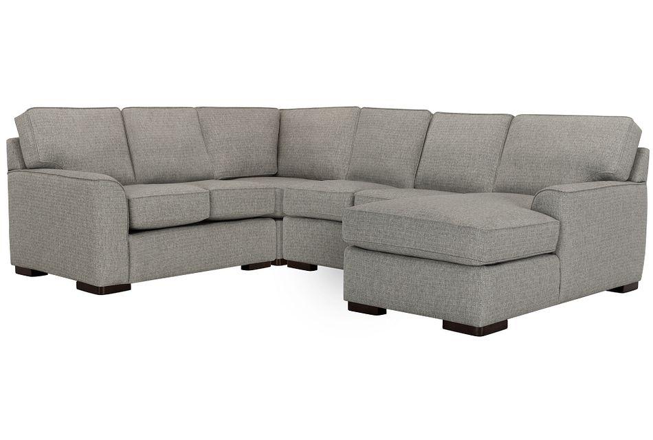 Austin Gray Fabric Medium Right Chaise Sectional