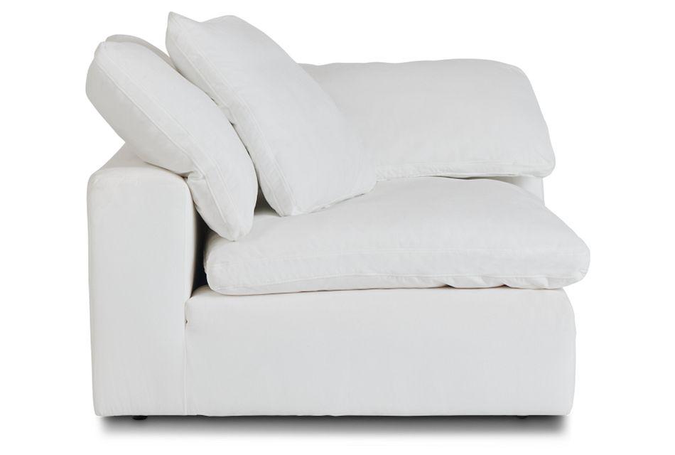 Nixon White Fabric Corner Chair,  (3)