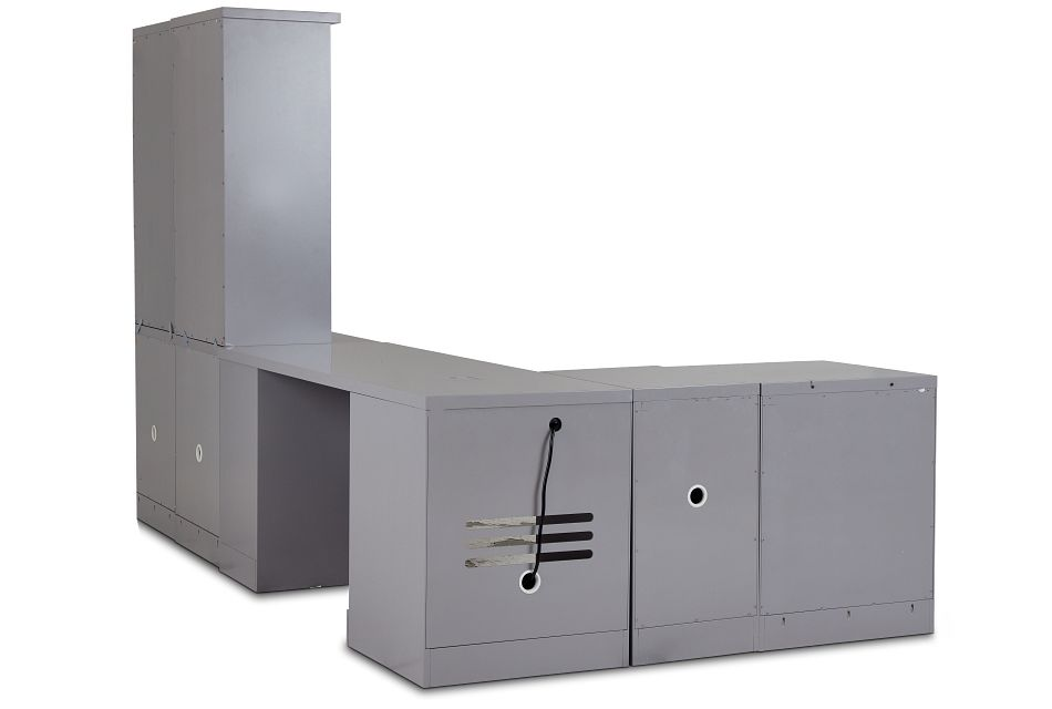 Newport Gray 5 Piece Desk