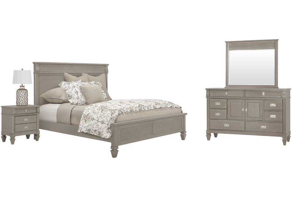 Marina Gray Panel Bedroom