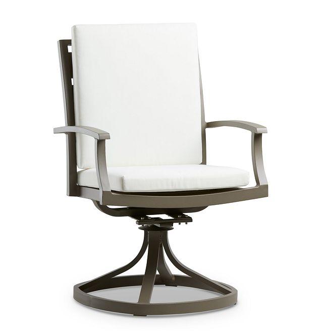 Raleigh White Swivel Arm Chair (0)