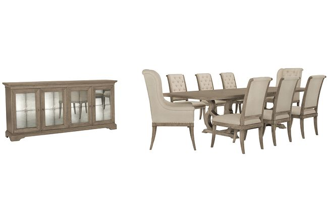 Marquesa Gray Rect Dining Room