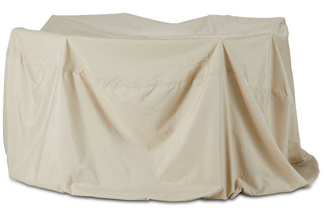 Khaki Square Table & 4 Chairs Outdoor Cover