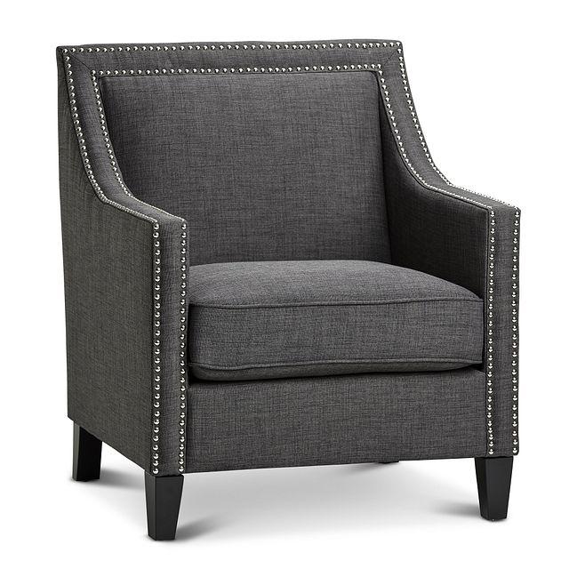 Erica Dark Gray Fabric Accent Chair (1)