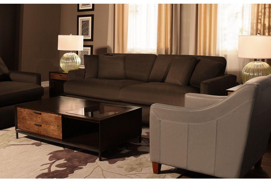 Tara2 Dark Brown  Micro Sofa