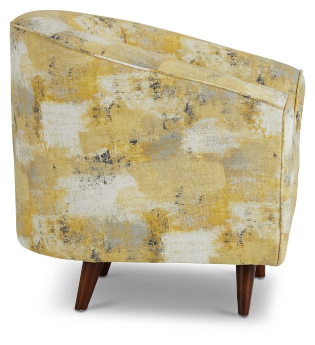 Antalya Yellow Fabric Accent Chair (2)