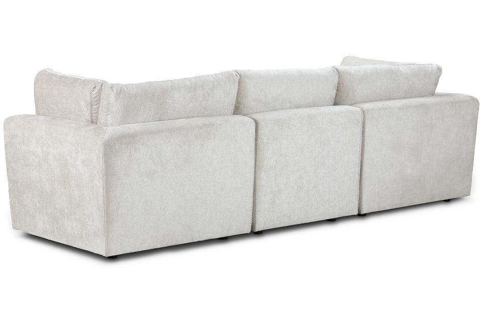 Oasis Light Beige Fabric 3 Piece Modular Sofa