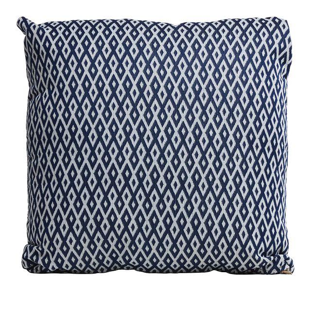 """Chip Dark Blue 18"""" Indoor/outdoor Accent Pillow (0)"""