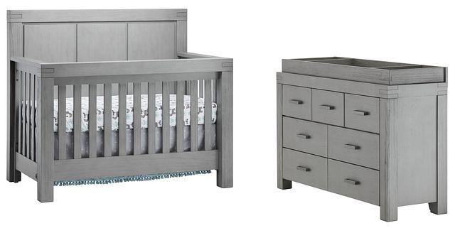 Piermont Gray Small Crib Bedroom