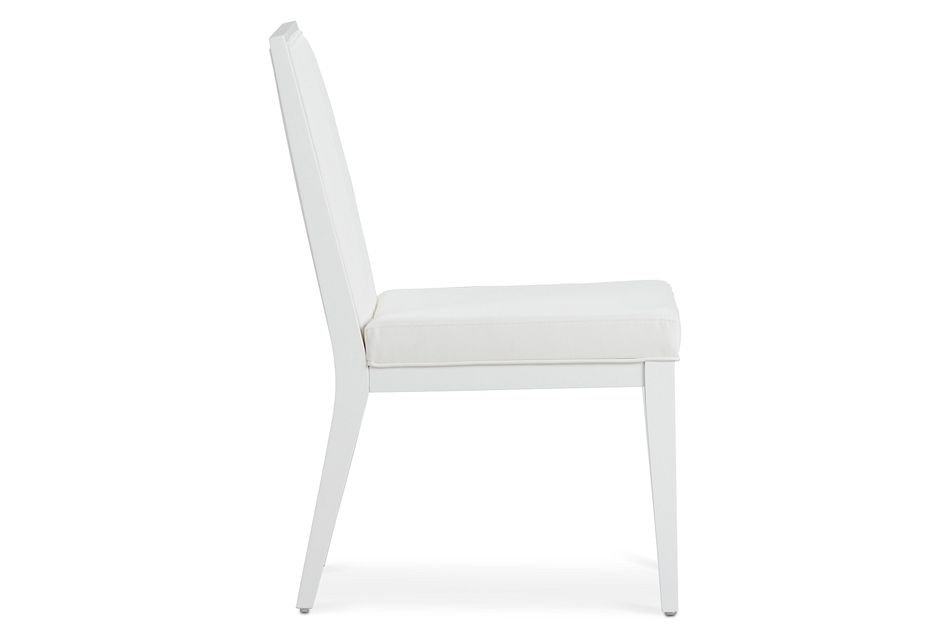 Ocean Drive White Wood Upholstered Side Chair