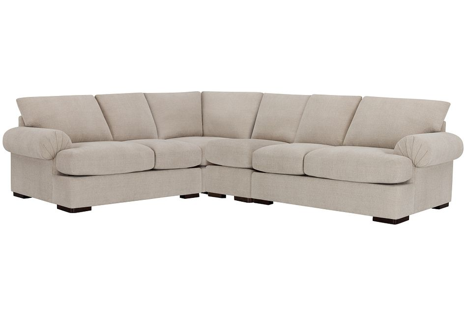 Belair Light Taupe Fabric Large Two-arm Sectional