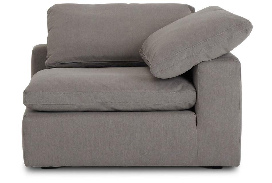 Nixon Light Gray Fabric Corner Chair,  (2)