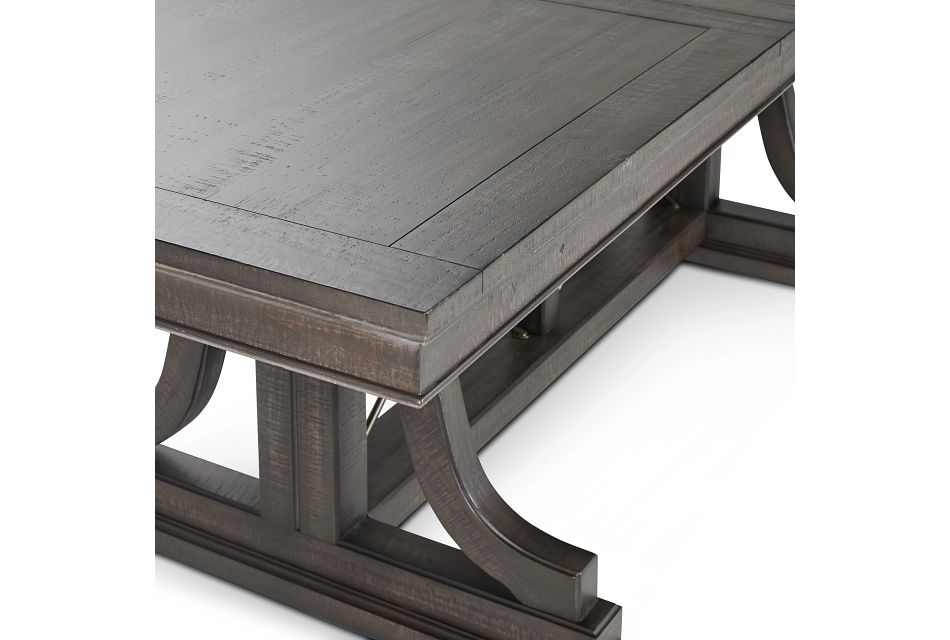 Heron Cove Dark Tone Trestle Table