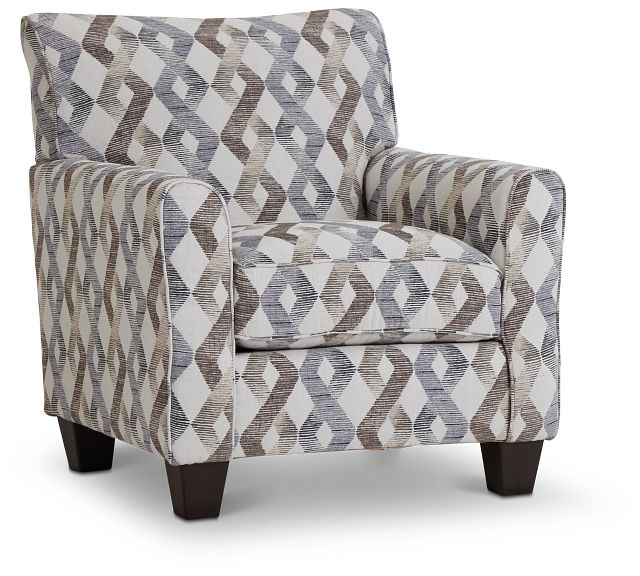 Myra Multicolored Fabric Accent Chair (1)