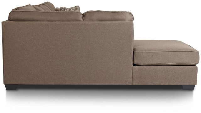 Calicho Dark Taupe Micro Left Chaise Sectional (2)