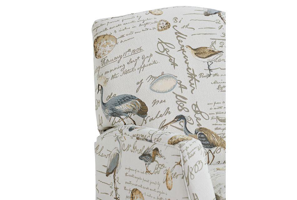 Heron Beige Fabric Push Back Recliner