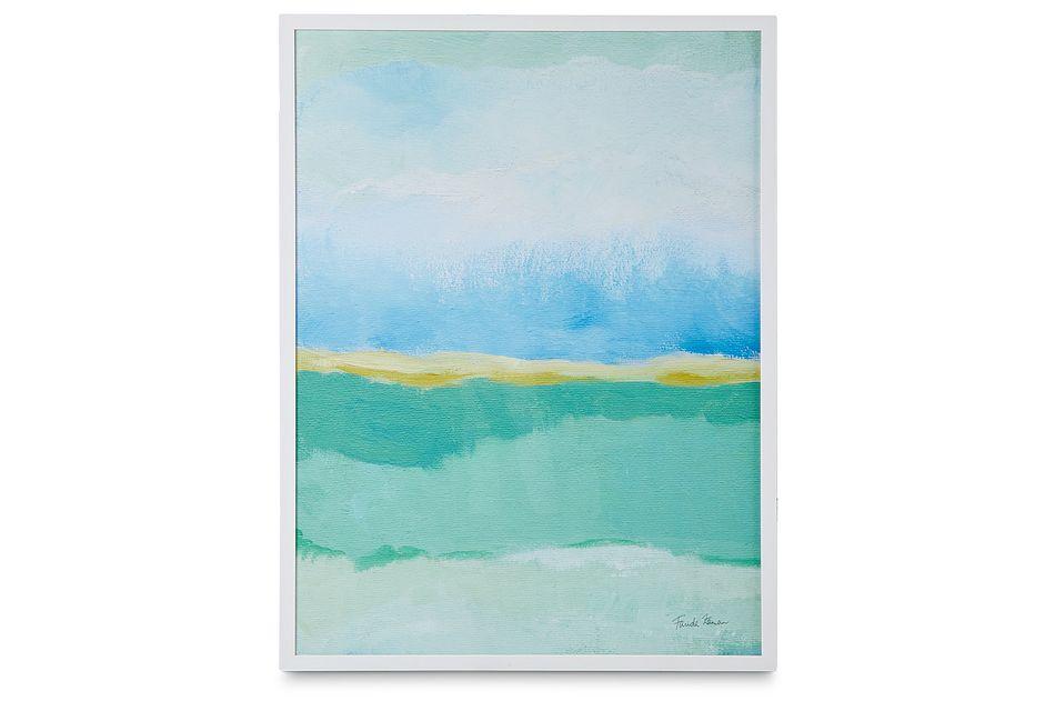 Dover Light Blue Framed Wall Art