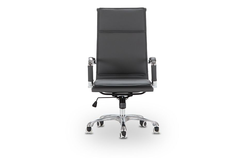 Arvada Gray Uph Desk Chair, %%bed_Size%% (3)