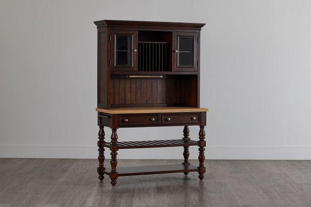Savannah Dark Tone China Cabinet (2)