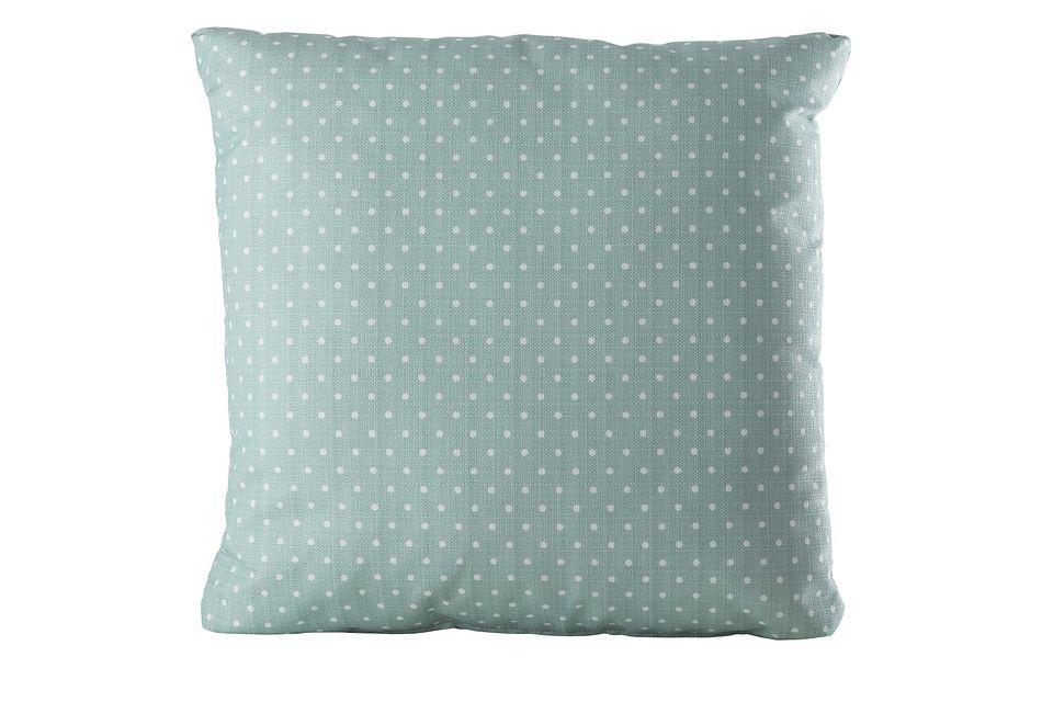 "Dots Light Blue 20"" Indoor/outdoor Accent Pillow"