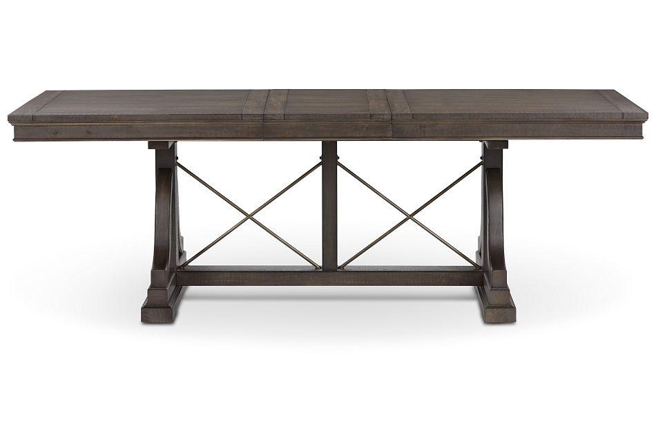 Heron Cove Dark Tone Trestle Table,  (1)