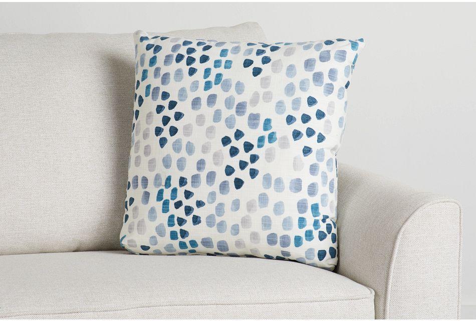 """Pfeiffer Blue Fabric 18"""" Accent Pillow,  (0)"""