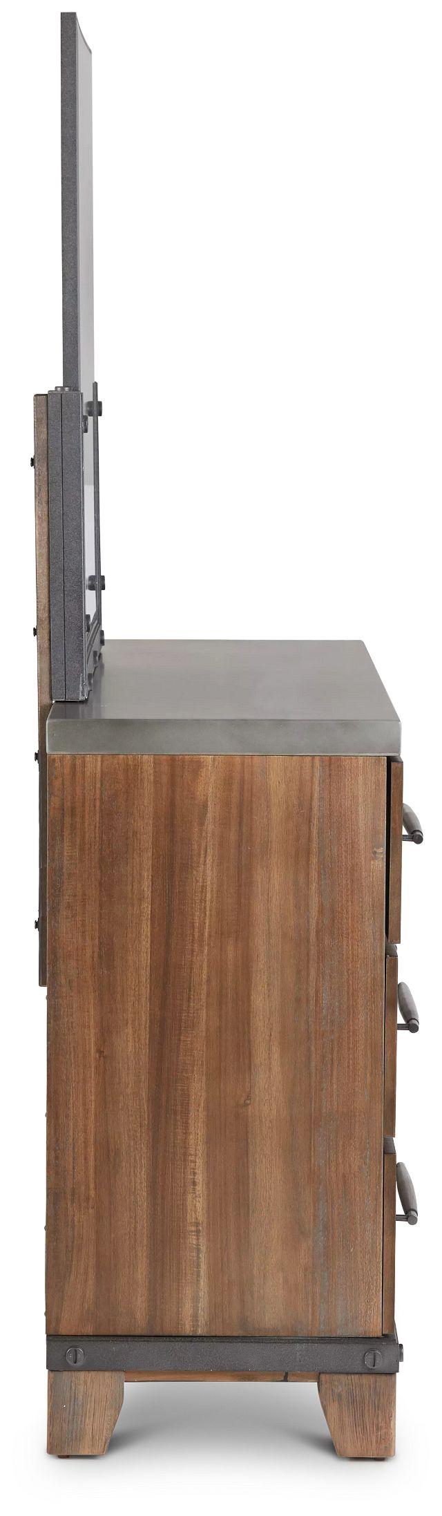 Forge Dark Tone Dresser & Mirror (3)