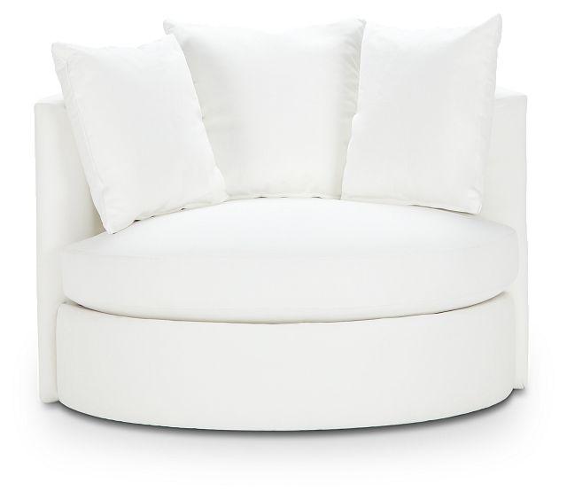 Merrick White Fabric Swivel Chair (3)