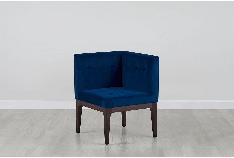 Reilly Dark Blue Velvet Accent Chair