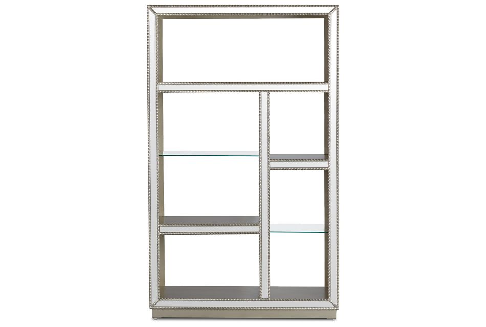 Hilary Silver Mirrored Etagere