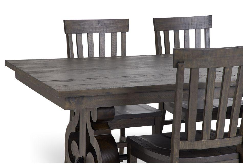 Sonoma Dark Tone Trestle Table & 4 Wood Chairs