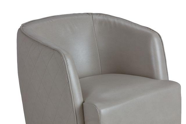 Alec Light Gray Micro Swivel Accent Chair (0)
