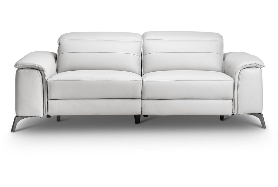 Pearson White Leather Reclining