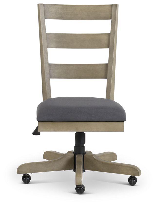 Vista Light Tone Wood Desk Chair (3)