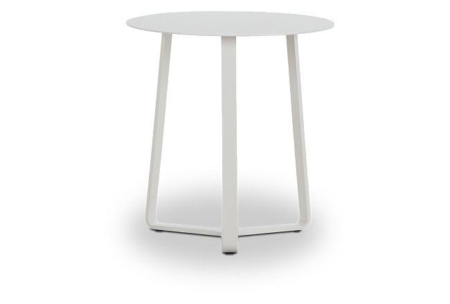 Ibiza White Round End Table