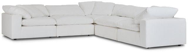 Nixon White Fabric 5-piece Modular Sectional (1)